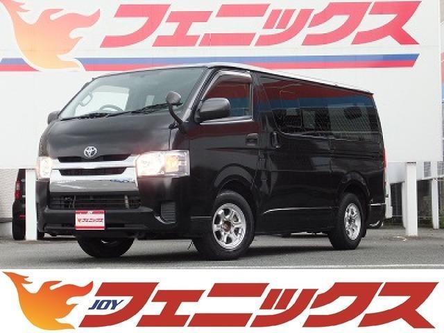 トヨタ ロングDX GLパッケージナビTV黒革調シートカバー