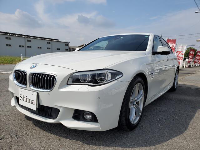 BMW 5シリーズ 528i Mスポーツ 黒革シート・地デジTV・LEDライト・シートヒーター・スペアキー