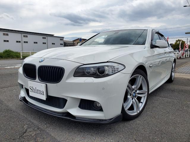 BMW 5シリーズ 523i Mスポーツパッケージ 黒革シート HDDナビ 地デジTV シートヒーター インテリアウッドトリム ミラーETC パドルシフト バックカメラ コンフォートアクセス バイキセノンヘッドライト