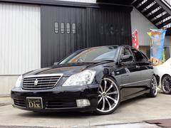 クラウンロイヤルサルーンG 20AW車高調HID黒革調シートカバー