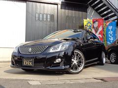 クラウン2.5アスリート ナビP新品黒革調シートカバー19AW車高調