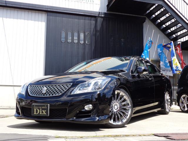トヨタ 2.5アスリートナビパケガラスコーティング黒革19AW車高調