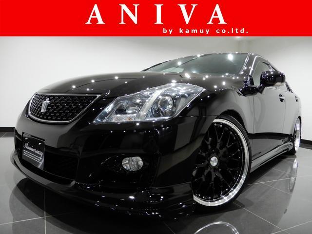 トヨタ 2.5アスリート 黒革HDD新品車高調新品20AW新品エアロ
