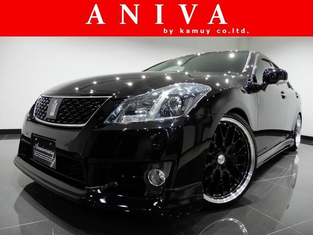 トヨタ アスリート後期黒革HDD新品車高調新品20AW新品フルエアロ
