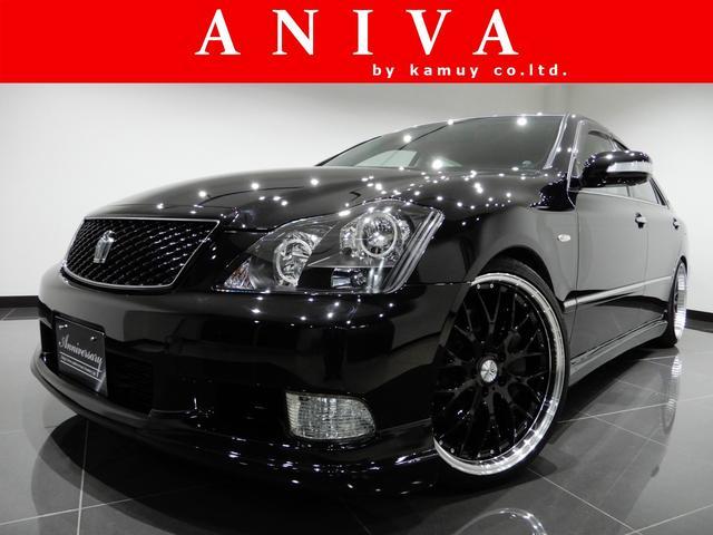 トヨタ アスリート黒革HDD新品車高調新品20AW新品エアロ4リング