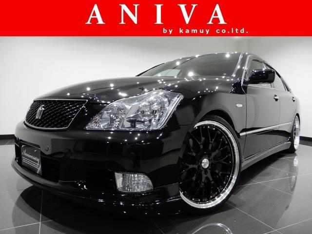 トヨタ アスリートGパケ黒革サンルーフMレビ車高調20AWフルエアロ