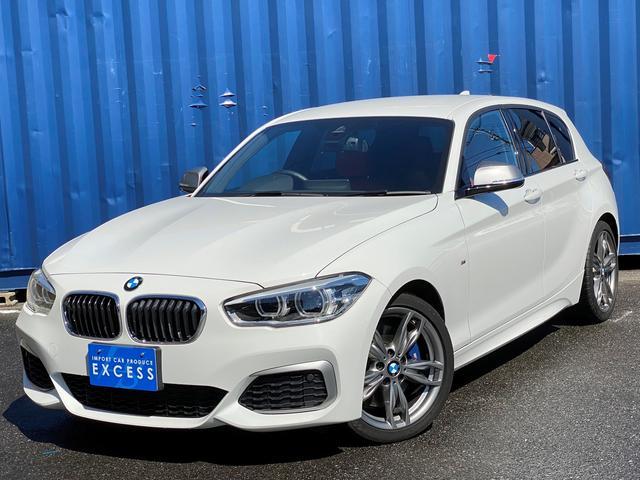 BMW 1シリーズ M140i HDDナビ・Bカメラ・インテリジェントセーフティ・レーンディパーチャー・レッドレザーシート・パドルシフト・LEDヘッドライト・パドルシフト・