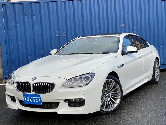 BMW 6シリーズ 640iグランクーペ インテリジェントセーフティ・HDDナビ・地デジ・TVキャンセラー・Bカメラ・ガラスルーフ・アイボリーレザー・パドルシフト・LEDヘッドライト・ドラレコ・ETC