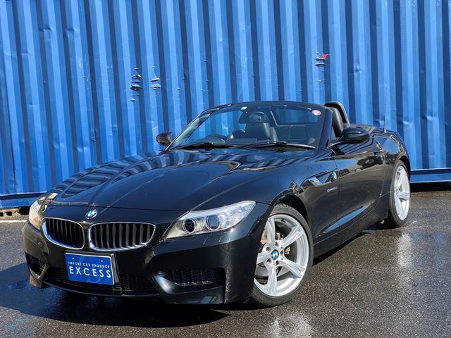 BMW Z4 sDrive20i Mスポーツ 後期モデル・電動オープン・純正ナビ・フルセグ・ブラックレザーシート・シートヒーター・パドルシフト・HID・ETC・18AW