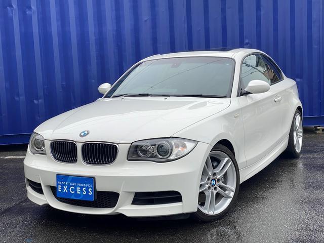 BMW 1シリーズ 135i 後期モデル・Mスポーツ・6MT・純正ナビ・DVD再生・ブラックレザーシート・シートヒーター・パワーシート・サンルーフ・ETC・HID
