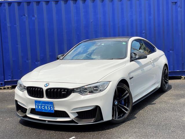 BMW M4 M4クーペ Mパフォーマンスエディション 日本17台限定・Mパフォーマンスエクステリア・純正ナビ・地デジ・TVキャンセラ・Bカメラ・レッドレザー・パドルシフト・ドライブアシスト・カーボンルーフ・毎年記録簿あり