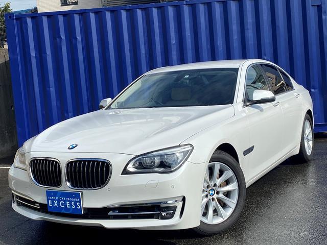 BMW 740i 後期モデル・HDDナビ・地デジ・Bカメラ・ベージュレザーシート・8速AT・ソフトクローズドア・コンフォートアクセス・LEDヘッドライト・ドラレコ・ETC・レーダー