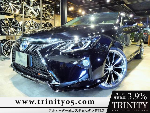 トヨタ カムリ ハイブリッド 新品スピンドルグリルエアロ 新品ファイバースモール&シーケンシャルウィンカー仕様ヘッドライト 新品20インチホイール&タイヤ