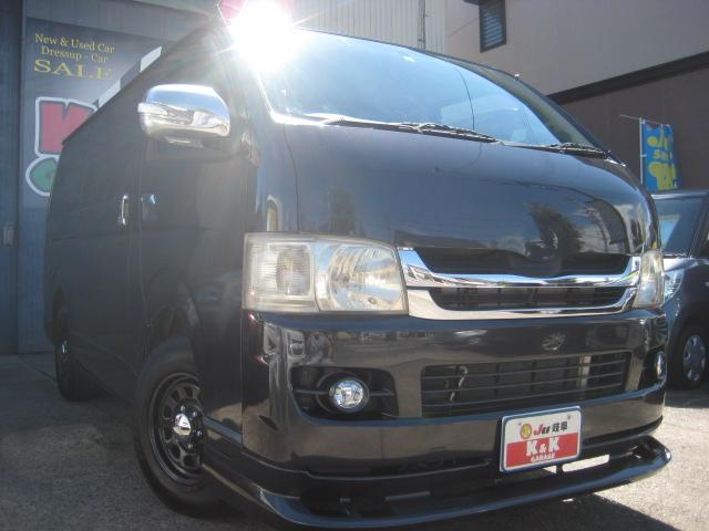 トヨタ ロングスーパーGL ガソリン車/Wエアバック/ABS/キーレス/イクリプスナビ/電格ミラー/HIDヘッド/コンビハンドル/スタッドレスタイヤ4本付