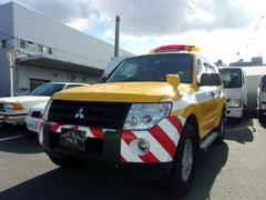 パジェロロング4WD 公共応急作業車 道路作業車 回転灯 スピーカー