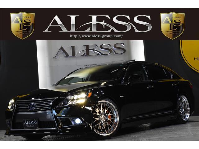 レクサス LS600hL 黒革サンルーフ マクレビ リアエンタ-