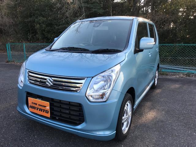 ワゴンR(沖縄 中古車) 色:フィズブルーパールメタリック 価格:66.8万円 年式:平成25年 走行距離:5.2万km