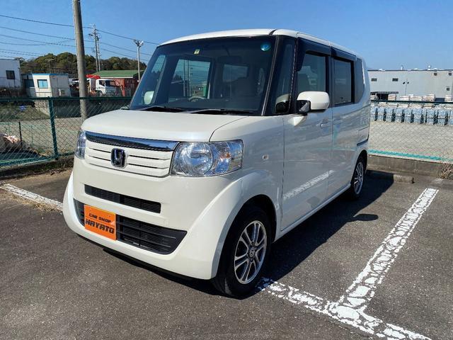 沖縄県の中古車ならN-BOX G・Lパッケージ ナビ TV DVD ETC プッシュスタート アルミ アイドリングストップ