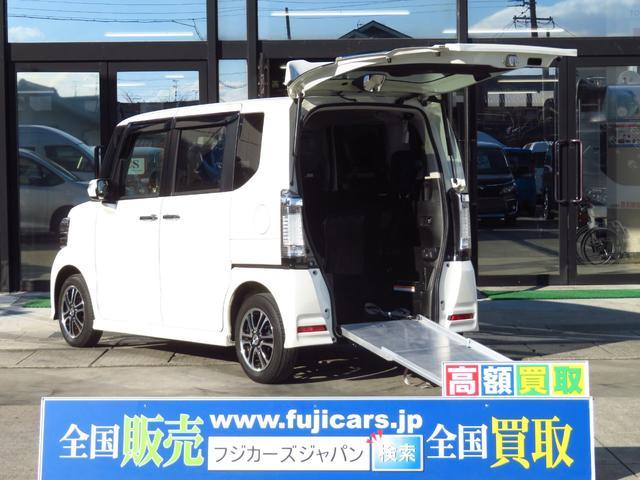 ホンダ N-BOX+カスタム G ターボSSパッケージ車いす仕様車スロープ 車いす1基固定