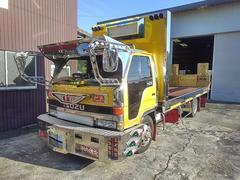 エルフトラック超ロング カスタム セキサイ セーフティーローダー 積載車