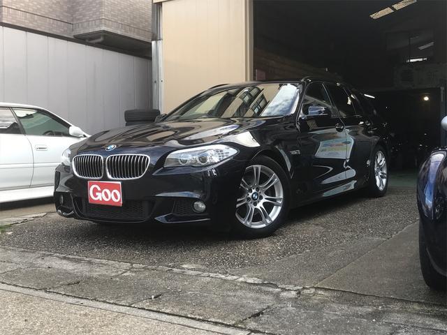 BMW 523iツーリング Mスポーツパッケージ ディーラー車 記録簿有 HDDナビ 地デジTV ETC スペアキー AW18インチ カーボンブラック プッシュスタート パドルシフト クルーズコントロール HIDヘッドライト