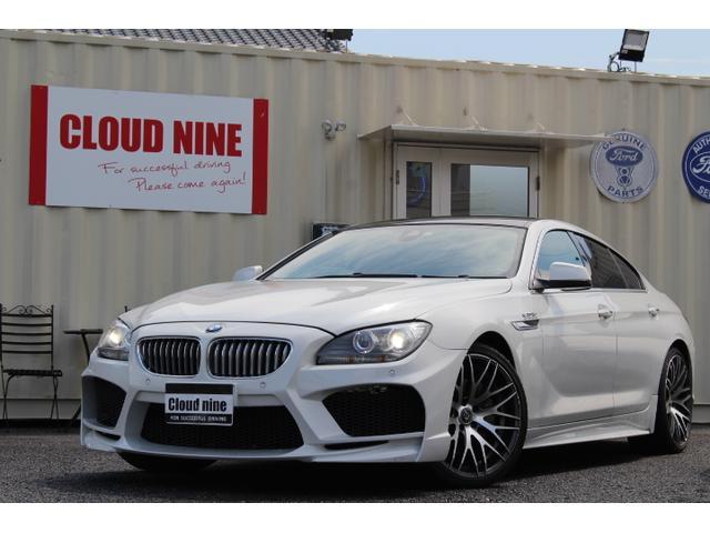 BMW 6シリーズ 650iグランクーペ D記録簿 エナジーコンプリートパッケージ エナジーエアロ&マフラー&20インチアルミ&フロアマット 黒革 純ナビ地デジBカメラ ETC 社外レーダー スロットルコントローラー HUD 安全装備付き