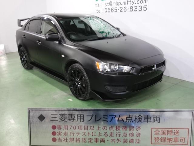 三菱 エクシード 色替車 マッドブラック ワンオーナー エボX仕様 ブラックグリル Fエアロリップ 大型ウイング ブラック18AW キーレス CD