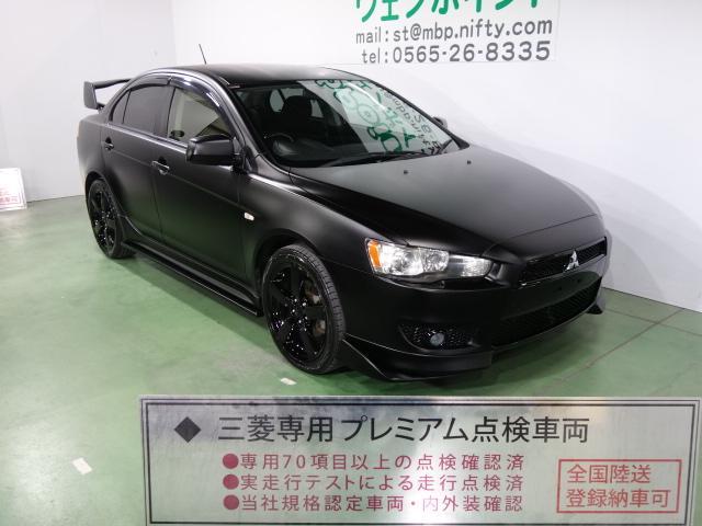 三菱 スポーツ 希少5MT 色替車 マッドブラック エボX仕様 ブラックグリル Fエアロリップ 大型ウイング ブラック18AW キーレス CD