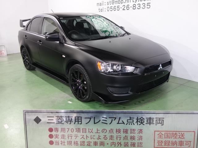 三菱 ギャランフォルティス エクシード 色替車 エボX仕様 ブラックグリル Fエアロリップ 大型ウイング ブラック18AW キーレス CD