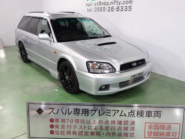 スバル GT-B E-tuneII レザーシート フジツボマフラー ブラック17AW MOMOステアリング CD ETC キーレス