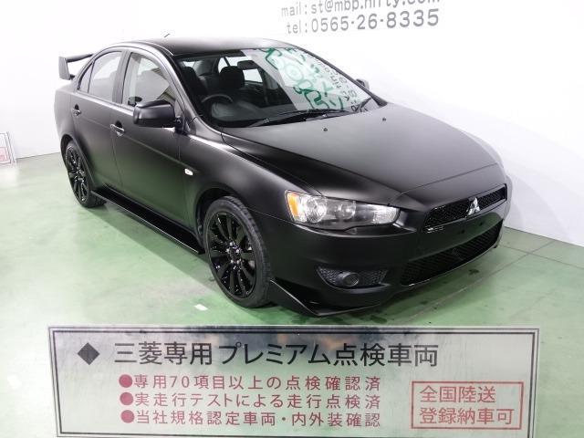 三菱 エクシード 色替車 マッドブラック エボX仕様 ブラックグリル Fエアロリップ 大型ウイング ブラック18AW キーレス CD ETC