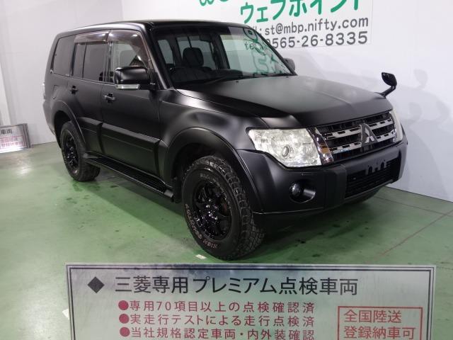 三菱 ロング エクシード 色替車 ブラックメッキグリル ブラック16AW HDDナビ フルセグTV HID ETC キーレス
