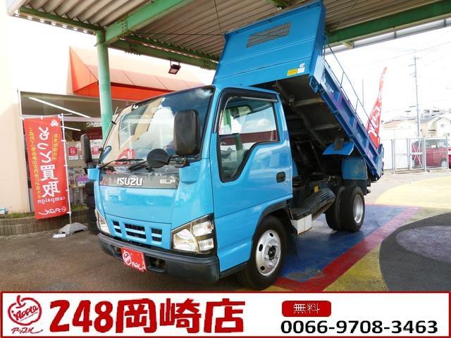 いすゞ エルフトラック 強化ダンプ 2.0t積ダンプ 新明和製 モデル・DR2-0110SY 高床 コボレーン 車両総重量・4955kg