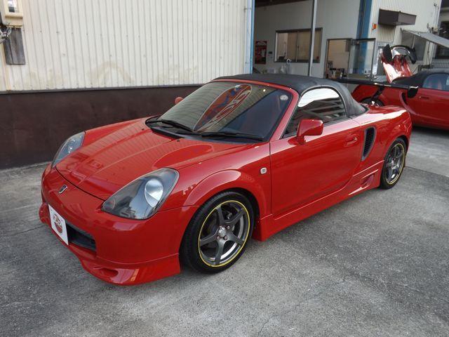トヨタ MR-S Sエディション エレガントSPG・5MT・ヘリカル式LSD・ETC・社外製ステアリング・純正赤シート・純F/Rエアロ・外サイドステップ1・外6インチ・GTウイング・外マフ・純フロントボックス・社外製LEDヘッドライト