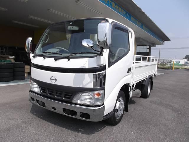 日野 2トントラック ナビ ETC アオリ固定式 AT車
