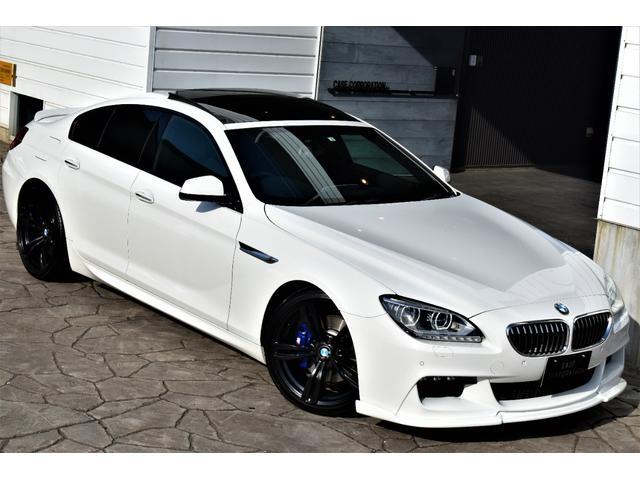 BMW 6シリーズ 640iグランクーペ Mスポーツパッケージ HAMANNフロントスポイラー H&Rダウンサス  20インチアルミホイール リアディフューザー ブラックハーフレザーシート アダプティブLEDヘッドライト ガラスサンルーフ シートヒーター