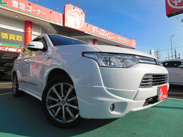 三菱 Gプレミアムパッケージ 4WD 黒革シート 純正エアロ