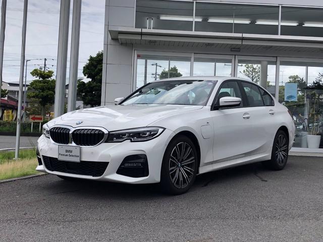 BMW 3シリーズ 330e Mスポーツ 当社試乗車UP・プラグインハイブリッド・純正18インチアルミ・LEDヘッドライト・電動シート・シートヒーター・アクティブクルーズコントロール・LEDフォグランップ・バックカメラ・ミラーETC
