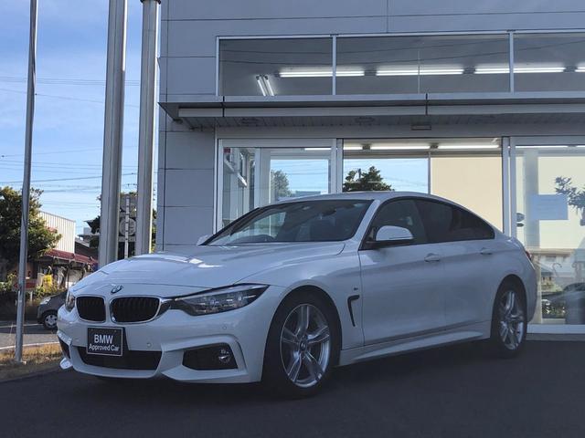 BMW 4シリーズ 420iグランクーペ Mスポーツ 黒レザー・LEDヘッドランプ・純正18インチAW・パワーシート・TVチューナー・電動ゲート・アクティブクルーズコントロール