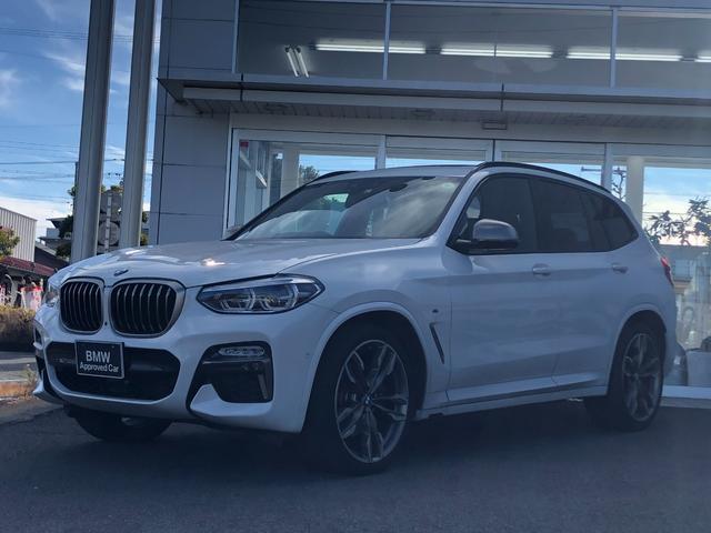 BMW X3 M40d リアシートアジャスメント・電動パノラマサンルーフ・茶レザーシート・CD