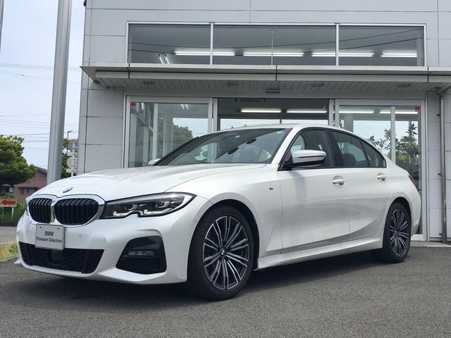 BMW 3シリーズ 320d xDrive Mスポーツ 当社試乗車UP・希少ミネラルホワイト・コンフォート・ハイラインパッケージ・黒革シート・シートヒーター・電動シート・電動トランク・LEDヘッドライト・純正18インチアルミ・バックカメラ・ミラーETC
