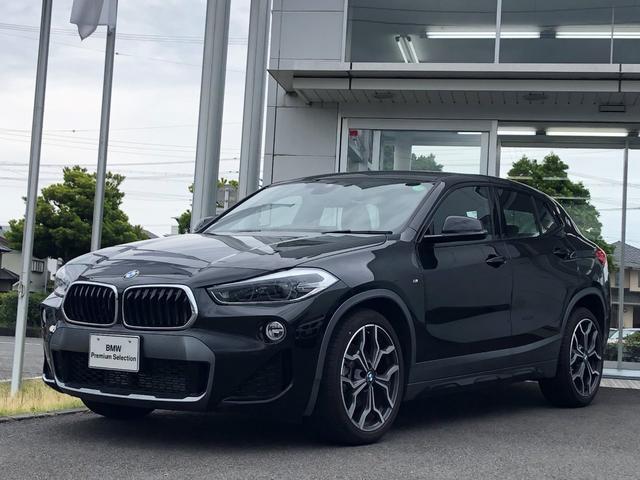 BMW X2 xDrive 18d MスポーツX LEDヘッドライト・黒ハーフレザーシート・電動トランク・アクティブクルーズコントロール・シートヒーター・ヘッドアップディスプレイ・弊社デモアップ