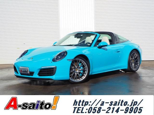 ポルシェ 911 911タルガ4S マイアミブルー・20インチRSスパイダー・LEDヘッドライト・PDLS・フロントリフト・インテリアツートン・スポークロノ・スポーツエグゾースト・リアアクスルステアリング・BOSEサウンド