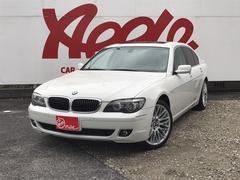 BMW740i 左ハンドル サンルーフ 白革 純正HDDナビ