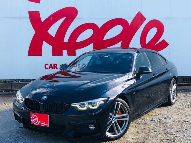 BMW 4シリーズ 440iグランクーペ Mスポーツ 本革シート ETC シートヒーター 純正HDDナビ パワーシート バックカメラ MTモード付フロアシフト フルセグ ローダウン 社外マフラー アイドリングストップ レーダークルコン