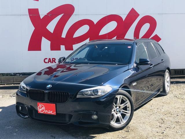 BMW 523iツーリング Mスポーツ 本革黒シート シートヒーター パワーシート 純正HDDナビ バックカメラ コーナーセンサー クルーズコントロール RFT