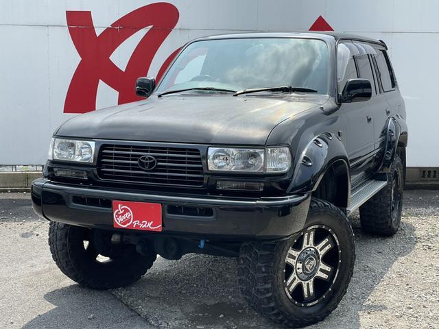 トヨタ ランドクルーザー80 VXリミテッド サンルーフ 4WD リフトアップ 20インチアルミホイール クーラーボックス アルパインスピーカー キーレス ウッドコンビハンドル 色替車