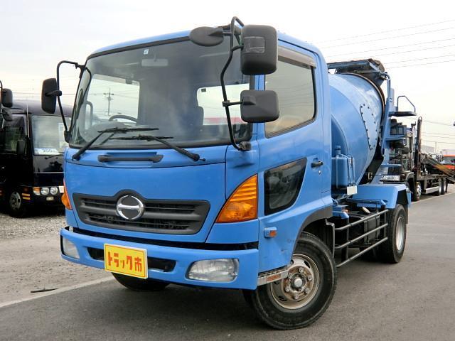 日野 ミキサー車 4.4立米 増t 5t 6速 新明和 中型
