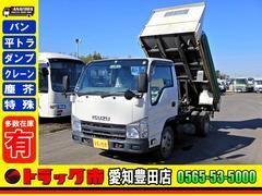エルフトラック 強化ダンプ 2t コボレーン付 フルフラットロー AT車(いすゞ)