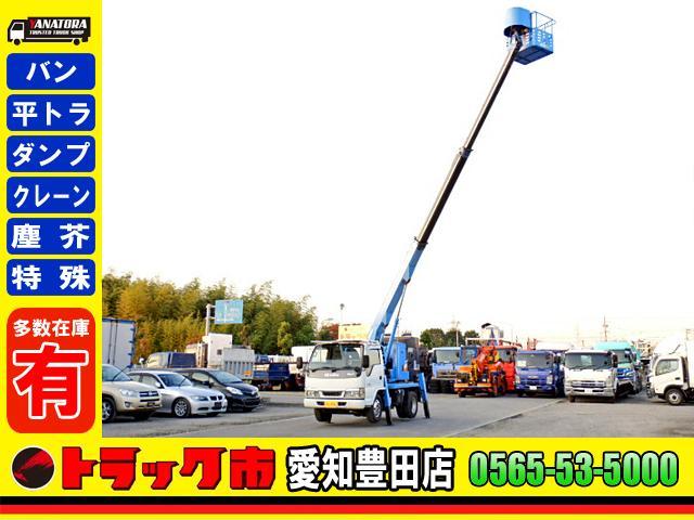 いすゞ エルフトラック  高所作業車 小型 3人 5MT アイチ 12m